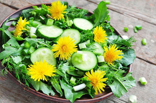 Jarné šaláty a nátierky s bylinkami