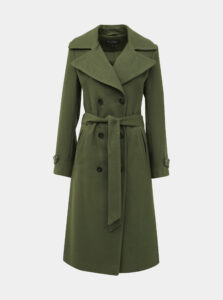 Zelený kabát Miss Selfridge