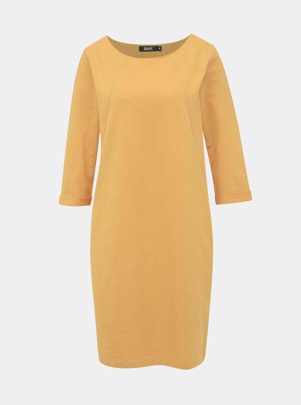 Žlté mikinové šaty ZOOT Hana