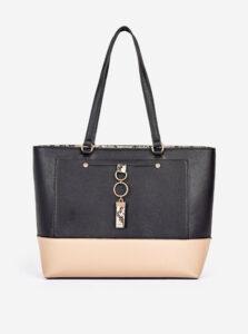 Béžovo-čierna kabelka Dorothy Perkins