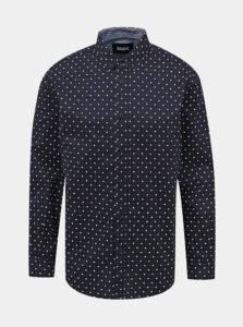 Tmavomodrá pánska vzorovaná košeľa ZOOT Richard