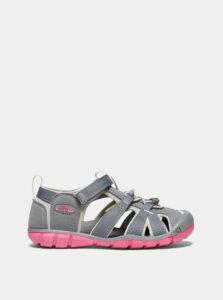 Ružovo-šedé dievčenské sandále Keen Seacamp II CNX Y
