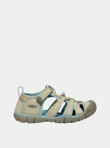 Béžové detské sandále Keen Seacamp II CNX Y