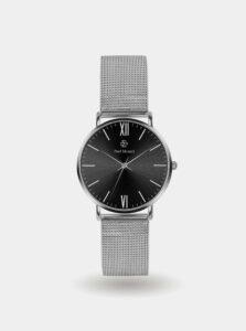 Pánske hodinky s nerezovým remienkom v striebornej farbe Paul McNeal