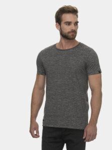 Čierne pánske pruhované tričko Ragwear