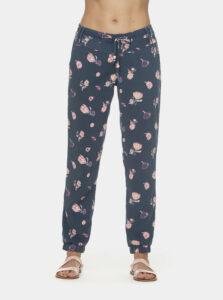 Modré dámske kvetované nohavice Ragwear