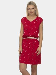 Červené vzorované šaty Ragwear