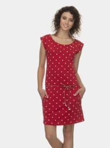 Červené bodkované šaty Ragwear