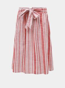 Ružová pruhovaná sukňa ONLY