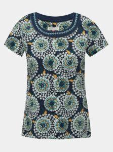Tmavomodré vzorované tričko Brakeburn