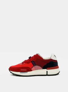 Červené pánske kožené tenisky Wrangler
