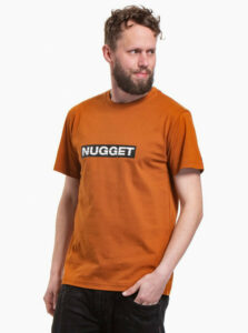 Hnedé pánske tričko NUGGET Cockpit