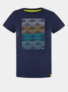Tmavomodré chlapčenské tričko s potlačou LOAP Baris