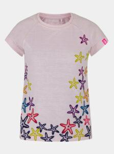 Ružové dievčenské tričko s potlačou LOAP Ajta