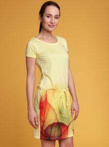 Žlté dámske vzorované šaty LOAP Alysa