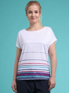 Biele dámske vzorované tričko LOAP Alby
