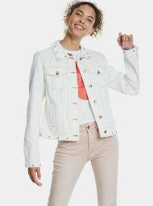 Biela rifľová bunda Desigual