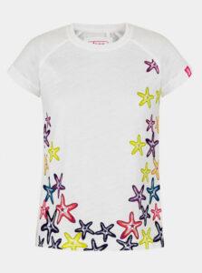 Biele dievčenské tričko s potiskem LOAP Ajta