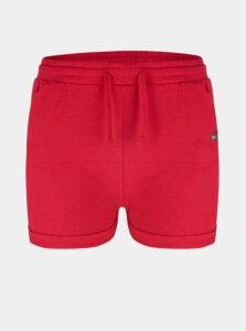 Červené dievčenské teplákové kraťasy LOAP Barica