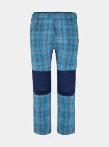Modré detské kockované nohavice LOAP Napos