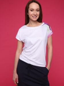 Biele dámske tričko s potlačou LOAP Alexi