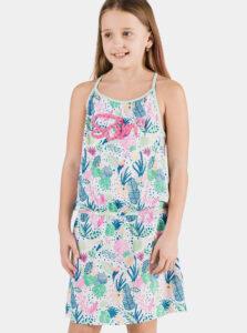 Ružovo-modré vzorované dievčenské šaty SAM 73 Lemo
