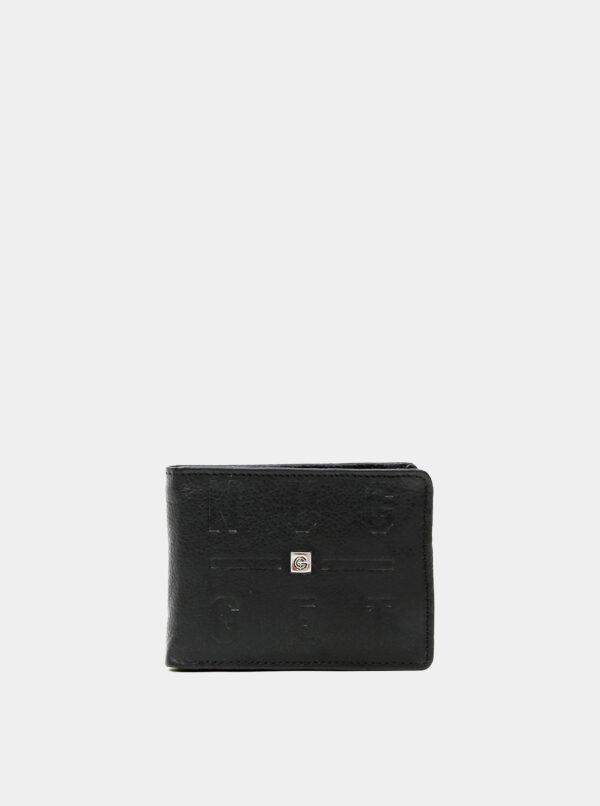 Čierna pánska kožená peňaženka Nugget