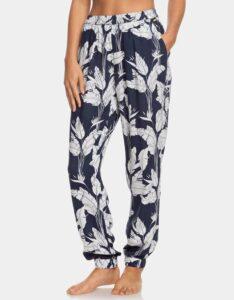 Bielo-modré kvetované nohavice Roxy