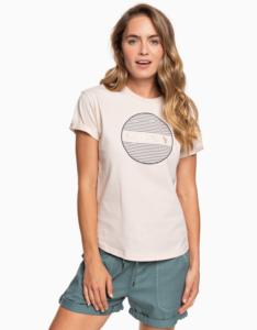 Svetloružové tričko s potlačou Roxy