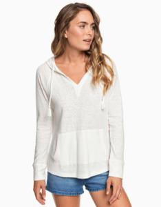 Biele tričko s kapucou Roxy