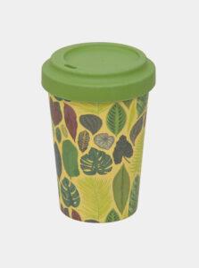 Zelený vzorovaný cestovný hrnček Tranquillo 370 ml