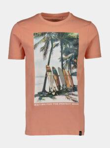 Ružové tričko s potlačou Shine Original