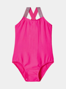 Ružové dievčenské jednodielne plavky name it Zilka