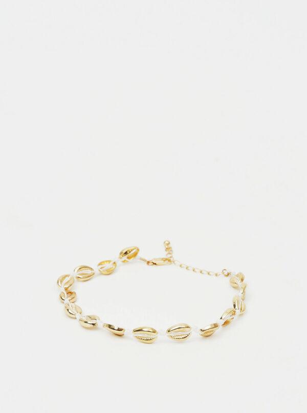 Náramok v zlatej farbe na členok Pieces Nella