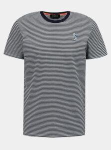 Tmavomodré pruhované tričko Selected Homme Wayne