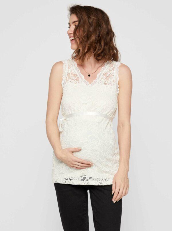 Biela tehotenská krajková blúzka Mama.licious Mivana
