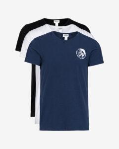 Diesel Spodné tričko 3 ks Čierna Modrá Biela