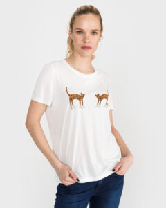 Vero Moda Molly Olly Tričko Biela