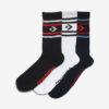 Converse Ponožky 3 páry Čierna Modrá Biela
