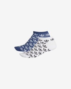 adidas Originals Trefoil Ponožky 2 páry Modrá Biela