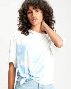 Levi's Luna Knot Tričko Modrá Biela