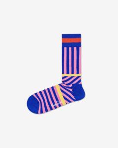 Happy Socks Stripes And Stripes Ponožky Modrá Ružová