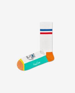 Happy Socks SpongeBob Original Ponožky Biela Viacfarebná