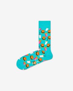 Happy Socks Hamburger Ponožky Modrá