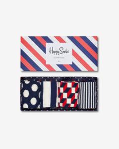 Happy Socks Ponožky 4 páry Modrá Červená