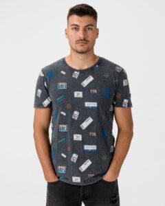 Tom Tailor Denim Tričko Šedá Viacfarebná