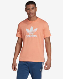 adidas Originals Trefoil Tričko Béžová Oranžová