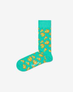 Happy Socks Pizza Ponožky Modrá Zelená