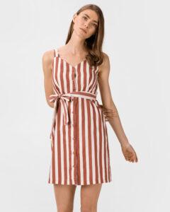 Vero Moda Delta Šaty Červená Biela Hnedá