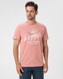 Jack & Jones Namen Tričko Ružová Béžová